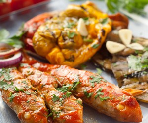 Red mullet with tomato*