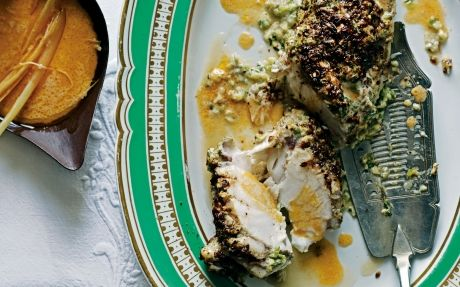 Spice-crusted Monkfish