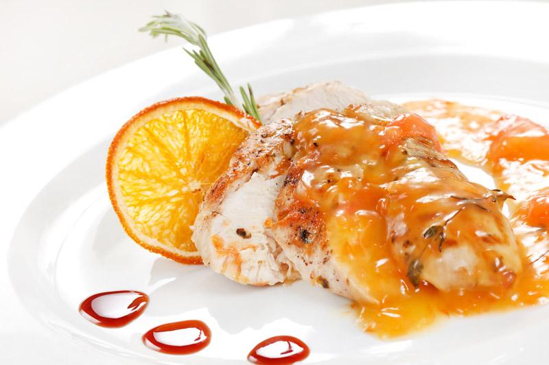 Κοτόπουλο με πορτοκάλι και σύκο